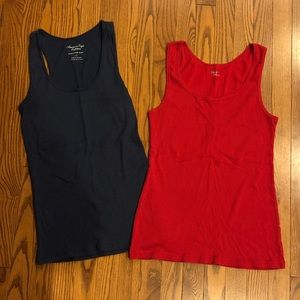 American Eagle and GAP two tank top bundle size L